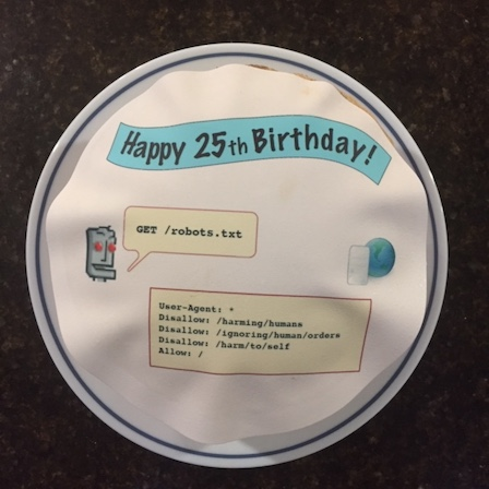 A robots.txt cake